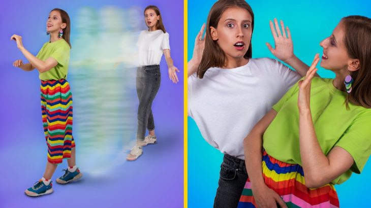 彩虹窍门和手工! 11个酷酷的女孩美容窍门!!