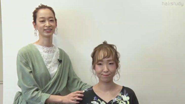 【モデル】オシャレなシンプルポニーテール@美容室美容師向け動画