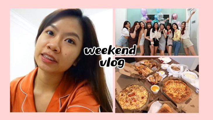 Weekend Vlog: 美容护理, 庆祝生日, 教网课