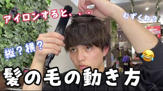 【美容師が教える】アイロンすると髪の毛ってどんな動きするの❓❓